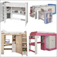 lit avec bureau coulissant lit enfant mezzanine avec bureau maison design hosnya com