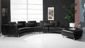 Contemporary Black Leather Sofa 25 Contemporary Curved And Sectional Sofas
