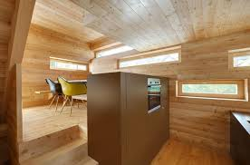 tiny barn conversion zigzags rooms vertically