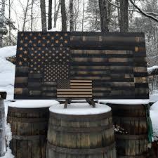 Whiskey Flag Bourbon Whiskey Barrel Flag Usa Flag Made From Oak Barrel Wood