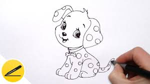 draw dog puppy kids cute drawing animals