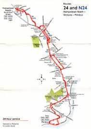 Bus Route Map London Buses Route N24