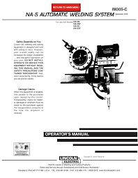 lincoln electric im305 c welding system user manual
