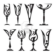 wine glass silhouette stylized glass collection clip art food 2 pinterest glass