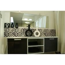 Glass Tile Bathroom Backsplash by Glass Tile Bathroom Wall Tiles Black U0026 White Glass Mosaic Tiles