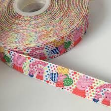 peppa pig ribbon 1 50yards lot 7 8 22mm peppa pig printed grosgrain ribbon hairbow