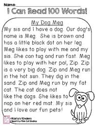 kindergarten reading passage this reading passage includes a story with 100 cvc words and a