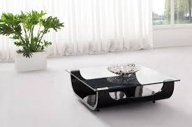 Coffee Tables Black Glass Iceberg Contemporary Square Shaped Glass Coffee Table Black