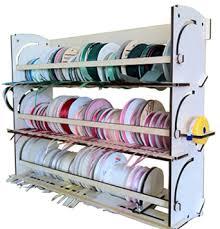 ribbon holders ribbon holder shelf organizer storage rack dispenser