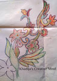 silk paint floral design