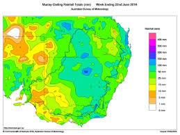 Rainfall Totals Map River Murray Operations 15 22 June Murray Darling Basin Authority