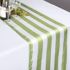 x 108 in emerald green u0026 white striped satin table runner