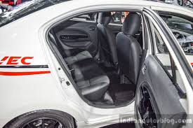 mitsubishi attrage 2016 interior 2016 mitsubishi attrage rear seats at 2016 bangkok international