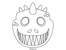 Mask Template by Printable Dinosaur Mask