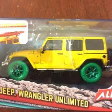 yellow jeep wrangler unlimited greenlight collectibles green machine chase 2016 jeep wrangler