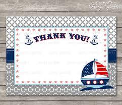 nautical thank you cards templates ideas anouk invitations