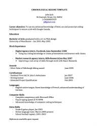 chronological resume templates chronological resume templates for canada basic concept template 827