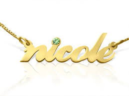 gold plated name necklace lowercase gold plated name necklace with swarovski element