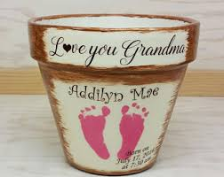 personalized flower pot flower pots etsy