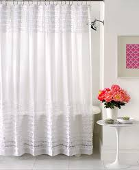Ruffled Shower Curtains Creative Bath Accessories Sheer Ruffles Shower Curtain Shower