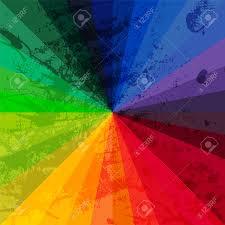 Color Spectrum Spectrum Wheel Made Of Bricks Rainbow Color Spectrum Grunge