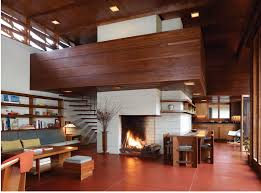 interior frank lloyd wright inspired homes fallingwater by