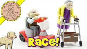 halloween wind up toys racing granny u0026 grandad novelty wind up toy who wins youtube
