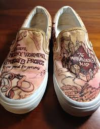 Marauder Map Marauder U0027s Map Shoes By Marizzo On Deviantart