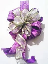 wired ribbon purple and gold wired ribbon bow summer home decor