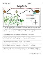map reading practice map skills worksheet teaching
