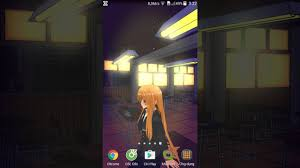 anime girl android live wallpaper anime school girl 3d android live wallpaper vertical mode youtube