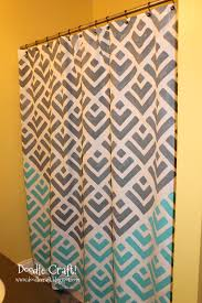 Colorful Fabric Shower Curtains Doodlecraft Stencil A Shower Curtain With Cutting Edge Stencils