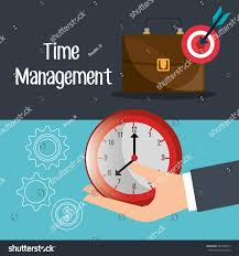 business time management graphic design vector stock vector