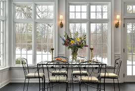dining room dining in sunroom with glass top dining table and