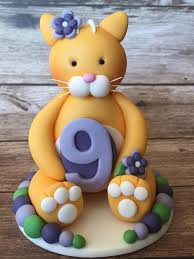 cat cake topper edible fondant 3d cat cake topper birthday cake topper birthday