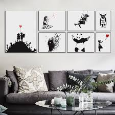 banksy posters reviews online shopping banksy posters reviews on banksy black modern abstract art print poster a4 hippie wall picture girls urban living room home decor canvas painting no frame