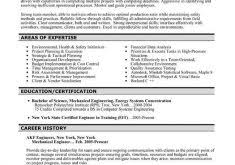 Best Engineering Resume Samples by Wondrous Mechanical Engineering Resume Templates 3 42 Best Images