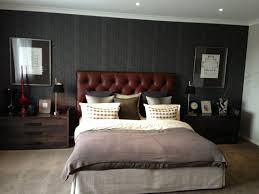 Masculine Bedroom Design Ideas Masculine Bedrooms Interior Decoration With Brown Leather Tufted