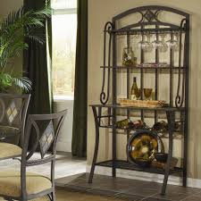 Wayside Furniture Akron Oh by Bernards Diamond Tile Metal Bakers Rack With Wine Storage