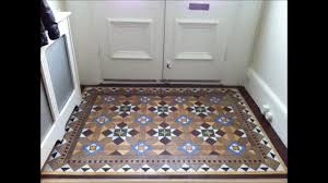 victorian geometric clay quarry tile restoration cleaning and