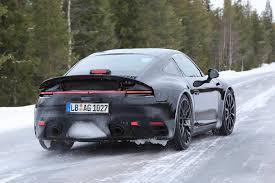porsche 911 snow next gen 2019 porsche 911 cabriolet spy shots gtspirit