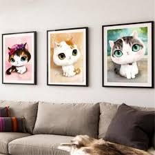 3d diy round diamond embroidery painting cute kawaii cats cross