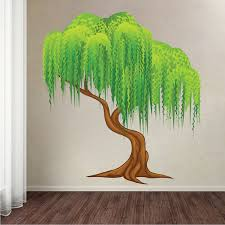 weeping willow tree mural decal tree wall decals large tree