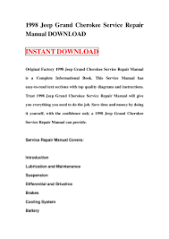 1998 jeep grand cherokee service repair manual download