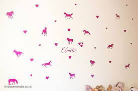 blog all about wall stickers stickers4walls personalised glittery horse wall stickers