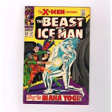 uncanny x men 47 ice man u0026 beast star in this grade 7 0 silver