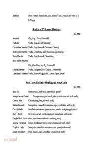 blue martini menu menu of drunken poet u0027s cafe bkr hotel kondapur hyderabad
