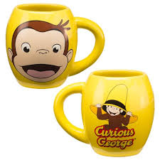 curious george 18 oz ceramic oval mug vandor curious george