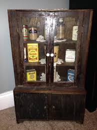 Rare Vintage Childs Wood Kitchen Cupboard Cabinet Hutch Antique