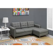 Peyton Leather Sofa Peyton Sectional Sofa In Grey Contemporary Bonded Leather Sofa